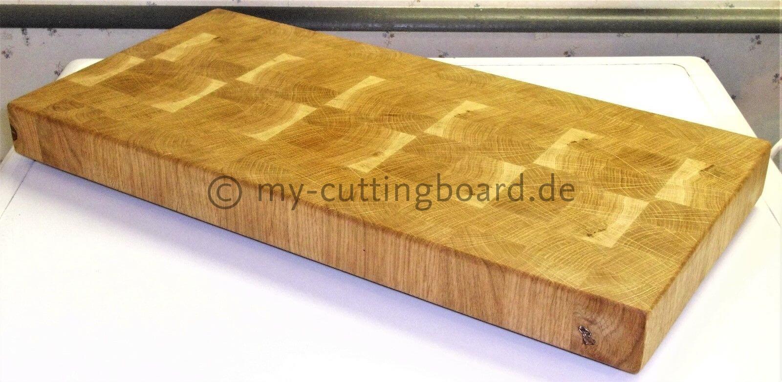 schneidebrett holz eiche stirnholz butcherblock made in germany xxl